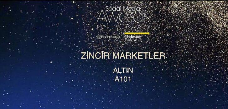 A101 Sosyal Medya Ödüllerinde bu sene de Altın ödülün sahibi oldu