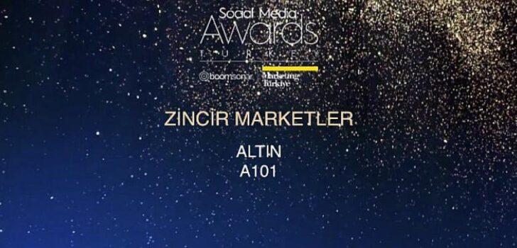A101 Zincir Marketler kategorisinde   bu yıl da Altın Ödül'ün sahibi oldu.