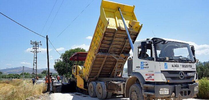 Aliağa Belediyesi Asfalt Çalışmalarına Başladı