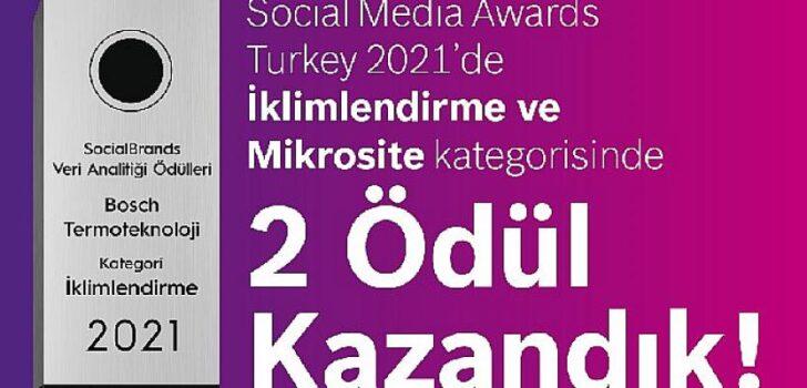 Bosch Termoteknoloji'ye Social Media Awards'dan 2 Ödül Birden!