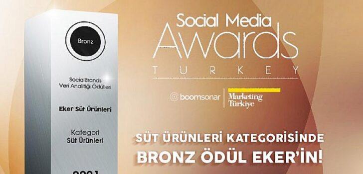 Eker, Social Media Awards Turkey-Veri Ödülleri'nde Bronz Ödül'ün sahibi oldu