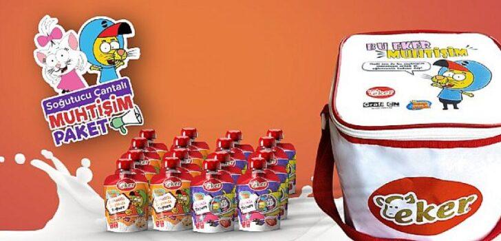 Eker'in Kral Şakir ürünleri, yeni ısı muhafazalı çantası ile birlikte sunuluyor