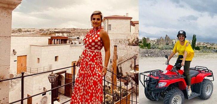 Evrim Başaran, Kapadokya'yı ATV motorla keşfe çıktı