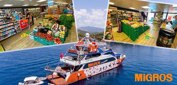 """Migros, Tam Donanımlı Yüzen Mağazası """"Migros Deniz Market"""" ile Müşterilerine Denizde de Hizmet Sunuyor"""