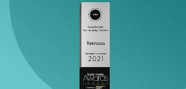 Teknosa'ya Social Media Awards'dan Altın Ödül