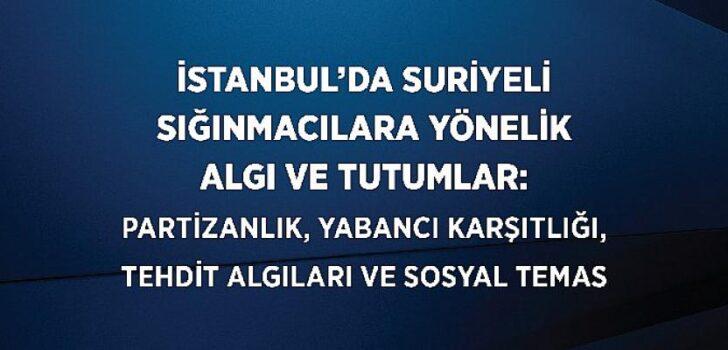 TÜSES'in 'İstanbul'daki Suriyeli Sığınmacılara Yönelik Algı ve Tutumlar Araştırması' Sonuçları