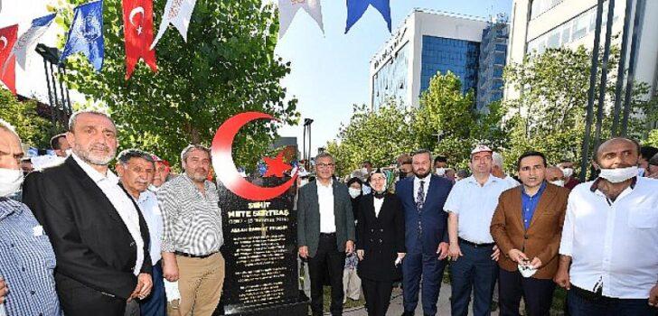 15 Temmuz şehidi Mete Sertbaş'ın ismi Üsküdar'da parka verildi