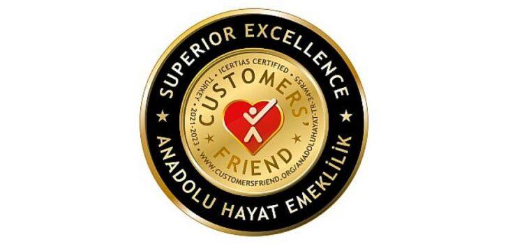 """Anadolu Hayat Emeklilik'e Müşteri İlişkilerinde """"Mükemmellik Derecesi"""""""