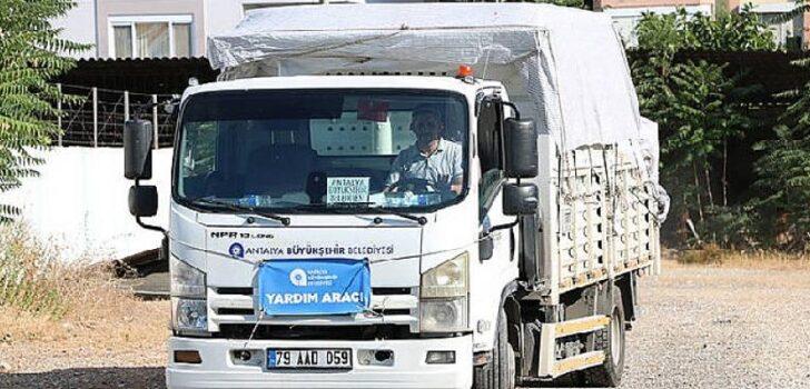 Antalya Büyükşehir Belediyesi'nden Artvin'e yardım eli