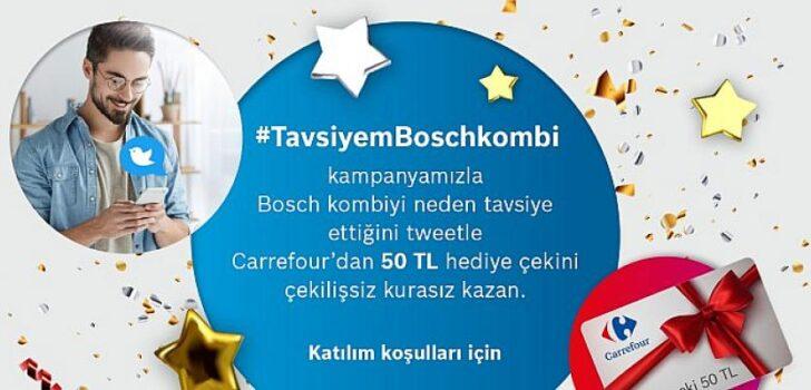 Bosch Termoteknoloji'den Bosch kombi sahiplerine kazandıran kampanya Twitter'da devam ediyor!