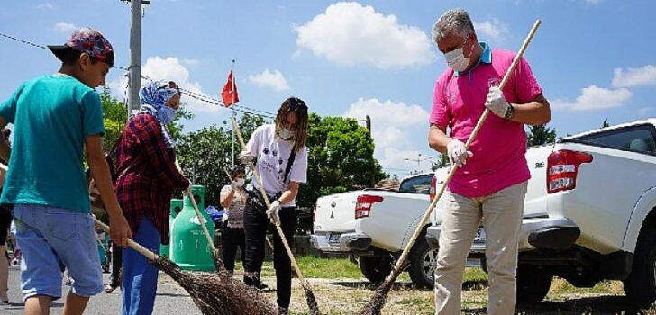 Temizlik kampanyasında sıra Durak Mahallesi'ndeydi!