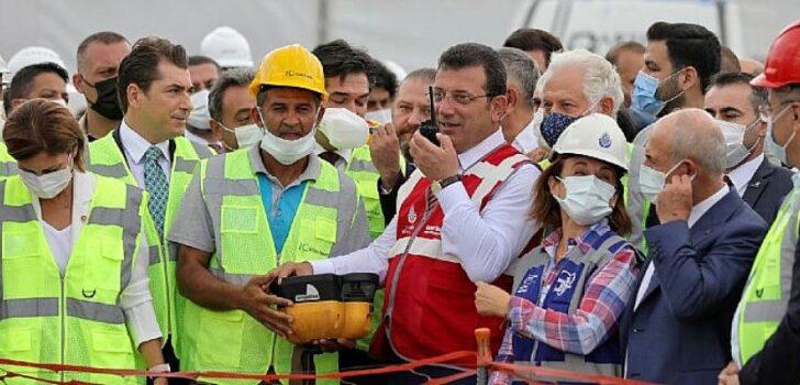 İmamoğlu Zafer Bayramında Yeni Metro İnşaatına İlk Harcı Döktü