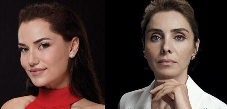 """Fahriye Evcen ve Nur Fettahoğlu """"Çünkü biz buna değeriz"""" dedi"""