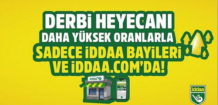 Trabzonspor-Galatasaray derbisi daha yüksek oranlarla sadece iddaa bayileri ve iddaa.com'da